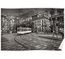 Downtown Tram Poster