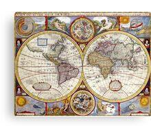 Old School World Atlas Canvas Print