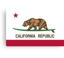 Surfing California Bear Canvas Print