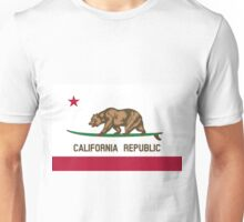 Surfing California Bear Unisex T-Shirt
