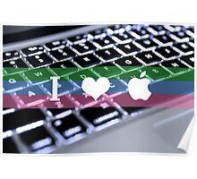 I <3 Apple Poster