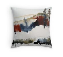 Mount Royal #3, Montreal, watercolour Throw Pillow
