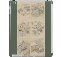 Early 1800s Japanese Drawings of Chūshingura (忠臣蔵) Green Background iPad Case/Skin