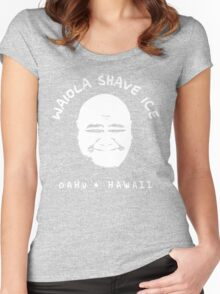 Waiola Shave Ice (White) Women's Fitted Scoop T-Shirt