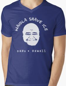 Waiola Shave Ice (White) Mens V-Neck T-Shirt