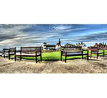 Tynemouth Benches Photographic Print