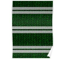 Knitted Scarf - Slytherin Poster