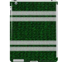 Knitted Scarf - Slytherin iPad Case/Skin