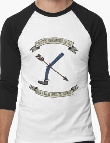 i used to be an adventurer like you Men's Baseball ¾ T-Shirt