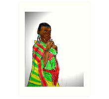 KENYAN WOMAN Art Print