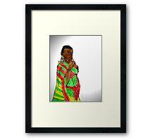 KENYAN WOMAN Framed Print