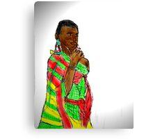KENYAN WOMAN Canvas Print