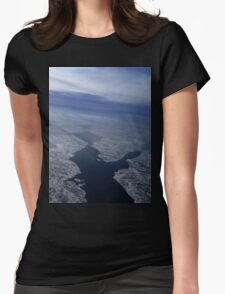 Flight Over Frozen Waters Womens Fitted T-Shirt