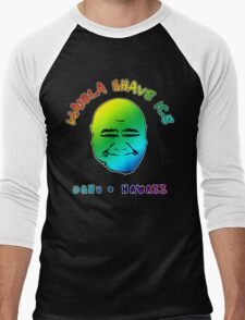 Waiola Shave Ice (Rainbow) Men's Baseball ¾ T-Shirt