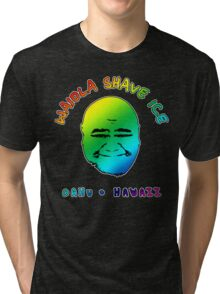 Waiola Shave Ice (Rainbow) Tri-blend T-Shirt
