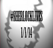 Sherlock Lives Phone Cover by lucindaD
