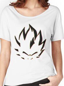 Vegeta Black Neon Outline Women's Relaxed Fit T-Shirt