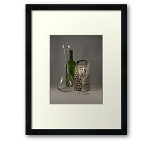 Wine and Cheese Stuff Framed Print