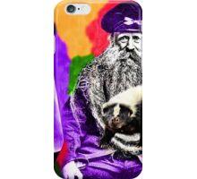 Man Beard Skunk Violet Lava Lamp iPhone Case/Skin
