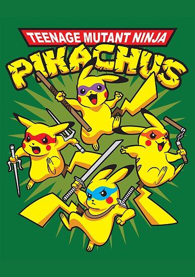 Teenage Mutant Ninja Pikachus by TeeNinja