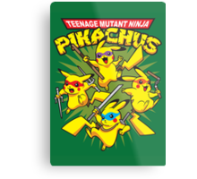 Teenage Mutant Ninja Pikachus Metal Print
