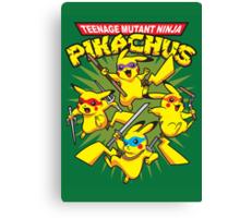 Teenage Mutant Ninja Pikachus Canvas Print