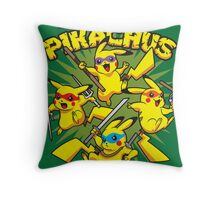 Teenage Mutant Ninja Pikachus Throw Pillow