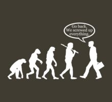 Funny! Evolution FAIL by robotface