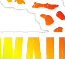 Hawaiian Islands (Vintage Distressed Design) Sticker