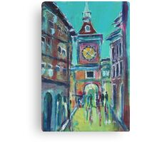 Clock Tower Arcade Canvas Print
