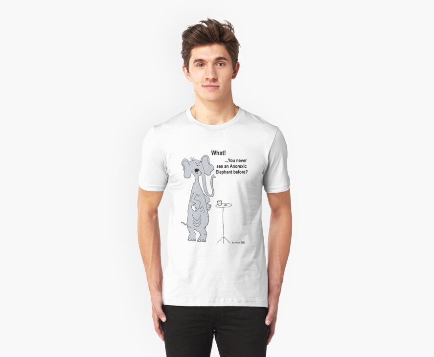Anorexic Elephant -T Shirt by mago