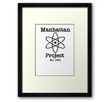 Manhattan Project Framed Print