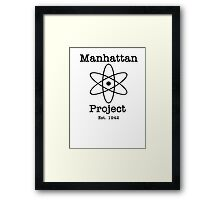 Manhattan Project Framed Print