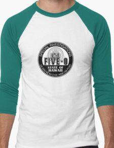 Hawaii Five-O Special Investigator Shield Men's Baseball ¾ T-Shirt