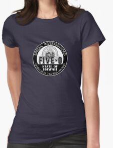 Hawaii Five-O Special Investigator Shield Womens Fitted T-Shirt
