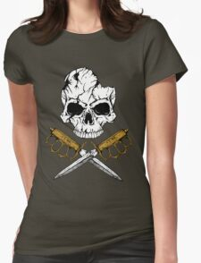 World War 1 Skull and Trench Knife Womens Fitted T-Shirt