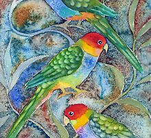 Rainbow Parrots 2 by Karin Zeller