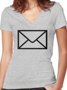 Mail Women's Fitted V-Neck T-Shirt