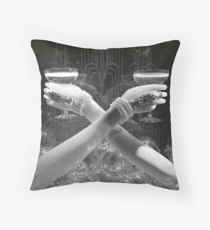 Midnight at Tiffany Throw Pillow