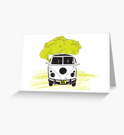 coocking in the van Greeting Card