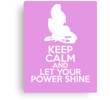 Keep Calm and Let Your Power Shine (Rapunzel, Tangled) Canvas Print