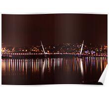 The Peace Bridge At Night Poster