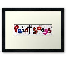 paint songs Framed Print