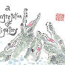 Congregation of Alligators (animal groups series) by dosankodebbie