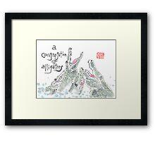 Congregation of Alligators (animal groups series) Framed Print