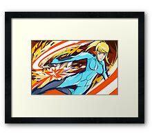 Zero Suit Samus   Plasma Whip Framed Print