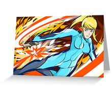 Zero Suit Samus | Plasma Whip Greeting Card