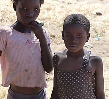 Village girls, near Mfuwe, Zambia by Tessa Manning