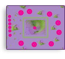 Violets dots second Canvas Print