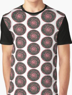 Mosaic swirling sphere pattern red Graphic T-Shirt